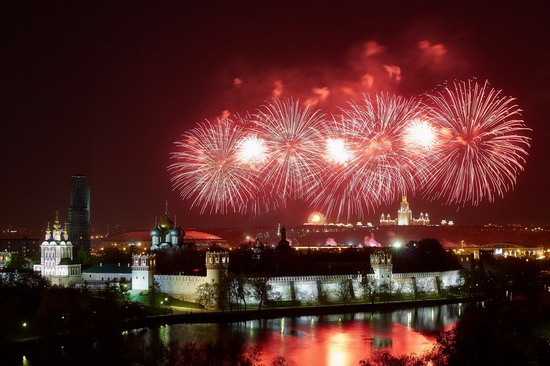 Fireworks on Victory Day in Moscow, Russia, photo 2