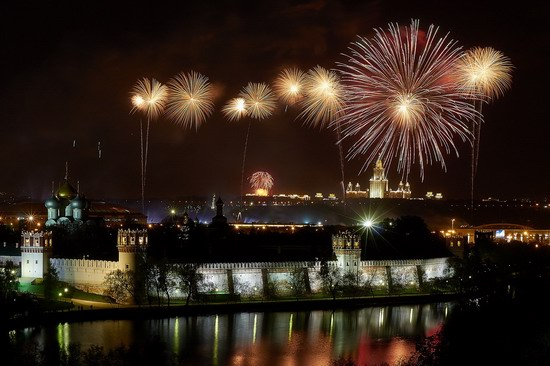 Fireworks on Victory Day in Moscow, Russia, photo 3