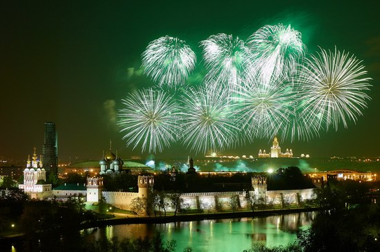 Fireworks on Victory Day in Moscow, Russia, photo 4