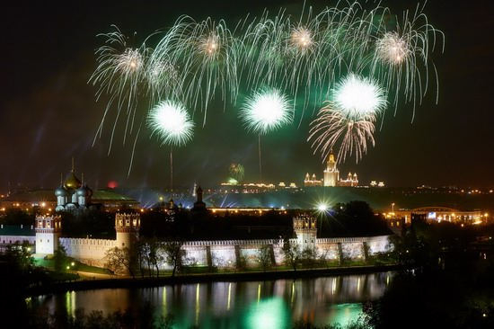 Fireworks on Victory Day in Moscow, Russia, photo 5