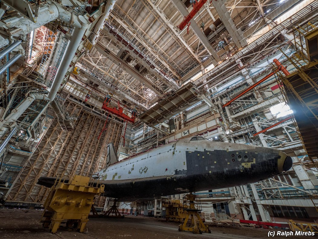 "Two abandoned spaceships of ""Energy-Buran"" project ..."