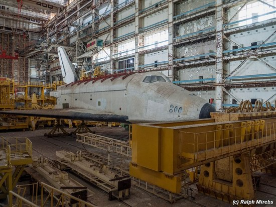 Abandoned spaceships Energy-Buran, Baikonur cosmodrome, photo 24