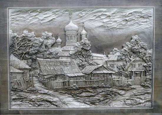 Carved wooden pictures, Dubovik family, Russia, photo 11