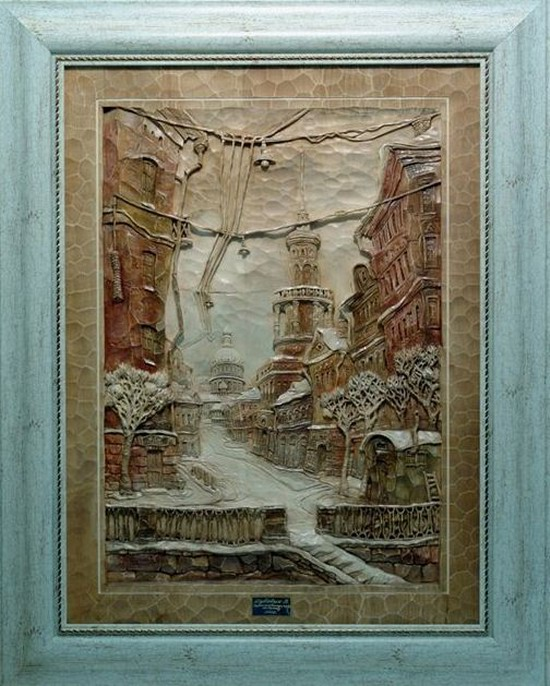 Carved wooden pictures, Dubovik family, Russia, photo 14
