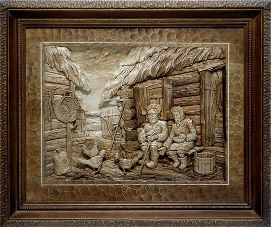 Carved wooden pictures, Dubovik family, Russia, photo 18