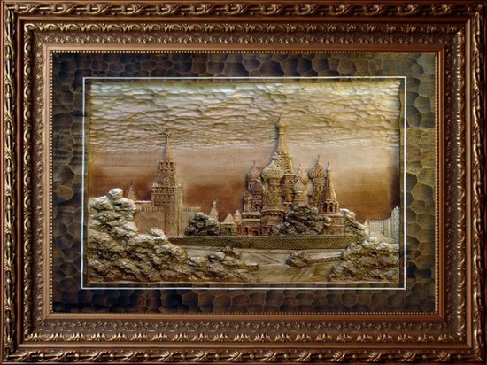 Carved wooden pictures, Dubovik family, Russia, photo 19