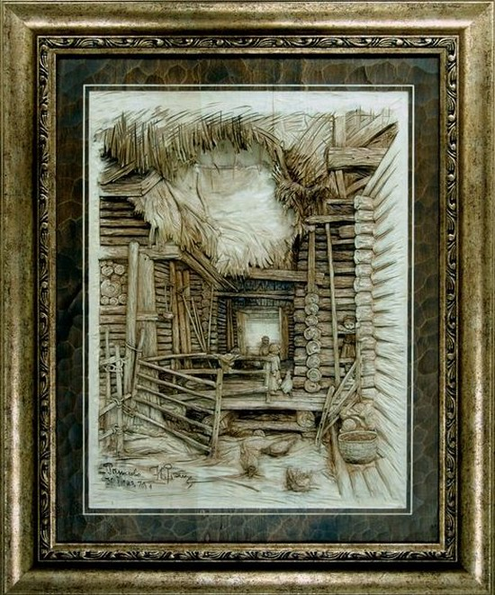 Carved wooden pictures, Dubovik family, Russia, photo 4