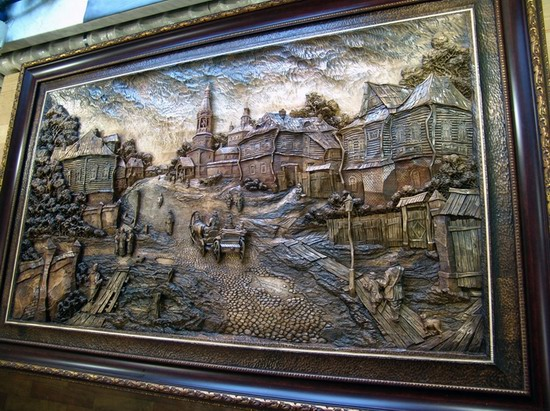 Carved wooden pictures, Dubovik family, Russia, photo 5