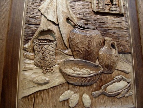 Carved wooden pictures, Dubovik family, Russia, photo 7