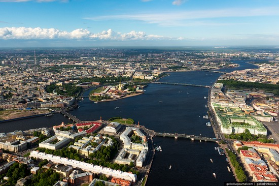Saint Petersburg, Russia from above, photo 2