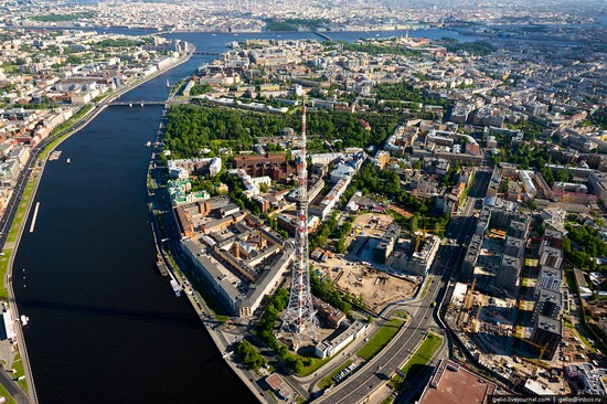 Saint Petersburg, Russia from above, photo 35