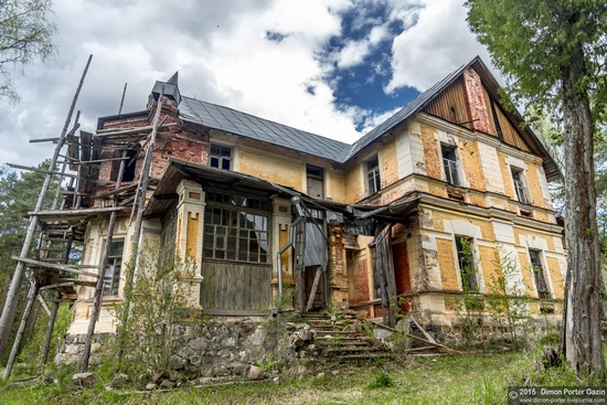 Abandoned manor of the architect Khrenov in Zaklyuchye, Tver region, Russia, photo 8