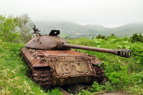 Abandoned tanks, Shikotan Island, Sakhalin region, Russia, photo 2
