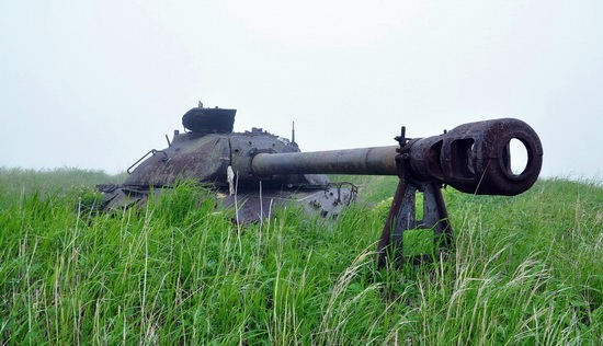 Abandoned tanks, Shikotan Island, Sakhalin region, Russia, photo 20