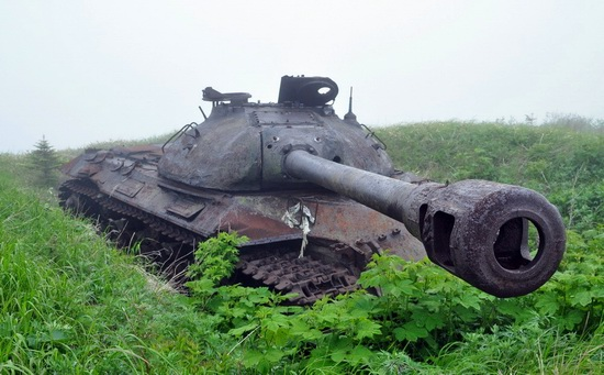 Abandoned tanks, Shikotan Island, Sakhalin region, Russia, photo 21