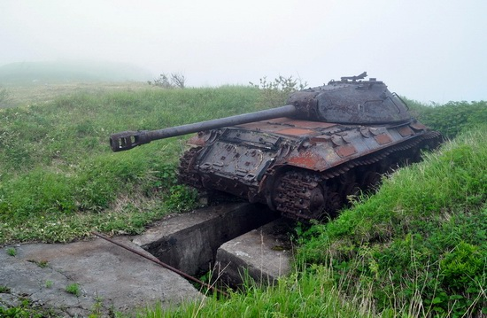 Abandoned tanks, Shikotan Island, Sakhalin region, Russia, photo 22