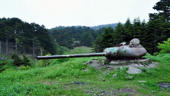 Abandoned tanks, Shikotan Island, Sakhalin region, Russia, photo 23