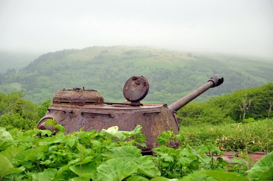 Abandoned tanks, Shikotan Island, Sakhalin region, Russia, photo 5
