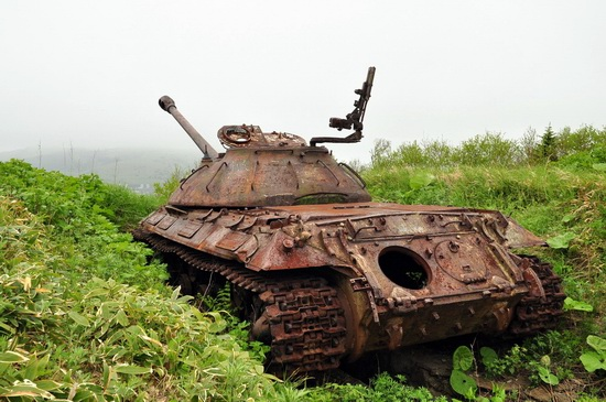 Abandoned tanks, Shikotan Island, Sakhalin region, Russia, photo 8
