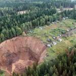 The giant sinkhole near Solikamsk tripled