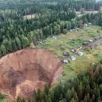The giant sinkhole near Solikamsk tripled