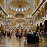 Amazing interior of the Naval Cathedral in Kronstadt