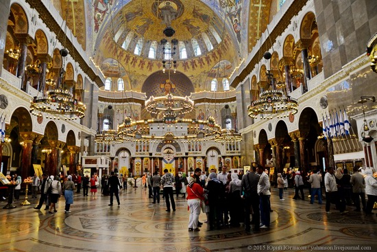 Interior of the Naval Cathedral in Kronstadt, Russia, photo 1