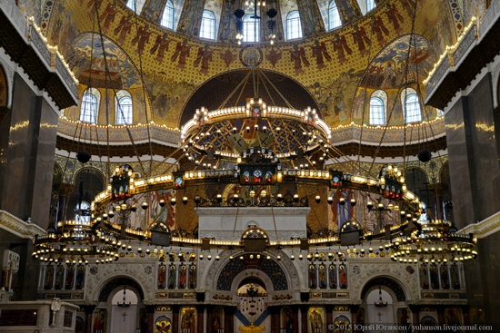 Interior of the Naval Cathedral in Kronstadt, Russia, photo 2