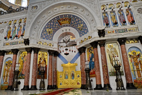 Interior of the Naval Cathedral in Kronstadt, Russia, photo 7