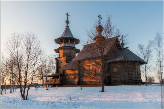 The first snow in the village of Blagoveshchenye, Moscow region, Russia, photo 11