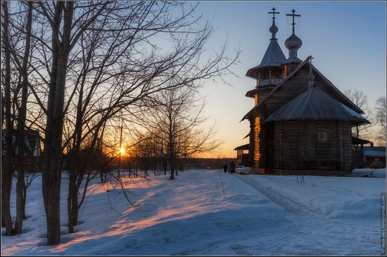 The first snow in the village of Blagoveshchenye, Moscow region, Russia, photo 12