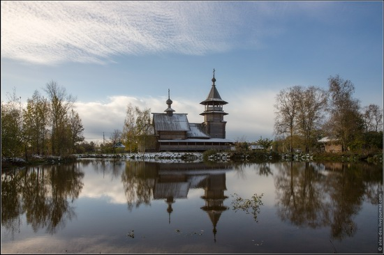 The first snow in the village of Blagoveshchenye, Moscow region, Russia, photo 5