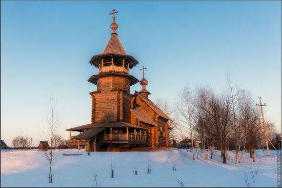 The first snow in the village of Blagoveshchenye, Moscow region, Russia, photo 9