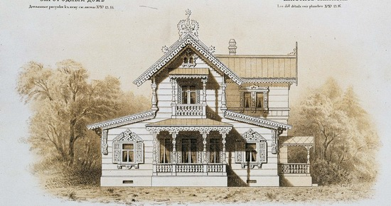 The motives of Russian architecture in 1873-1880, picture 11