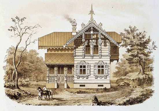 The motives of Russian architecture in 1873-1880, picture 12