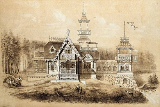 The motives of Russian architecture in 1873-1880, picture 13
