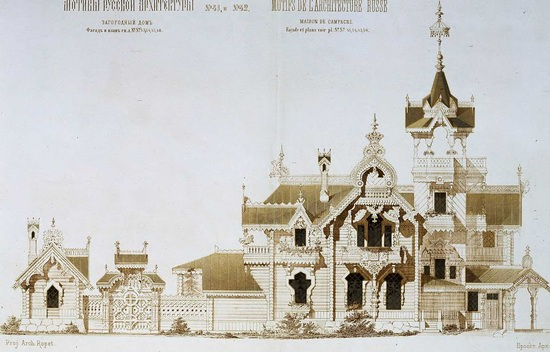 The motives of Russian architecture in 1873-1880, picture 14