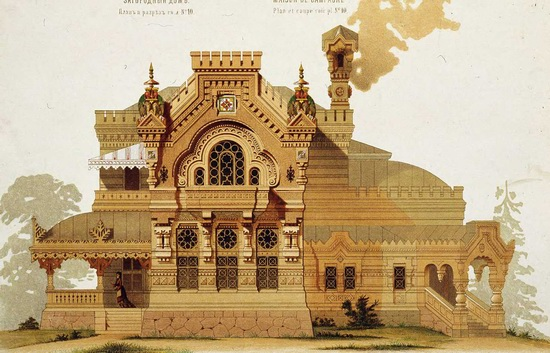 The motives of Russian architecture in 1873-1880, picture 15