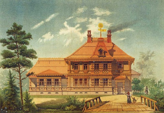 The motives of Russian architecture in 1873-1880, picture 16