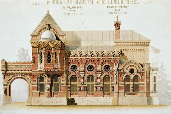 The motives of Russian architecture in 1873-1880, picture 18