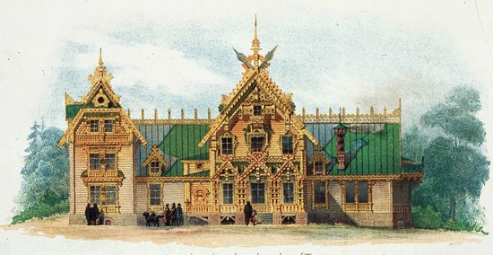 The motives of Russian architecture in 1873-1880, picture 19