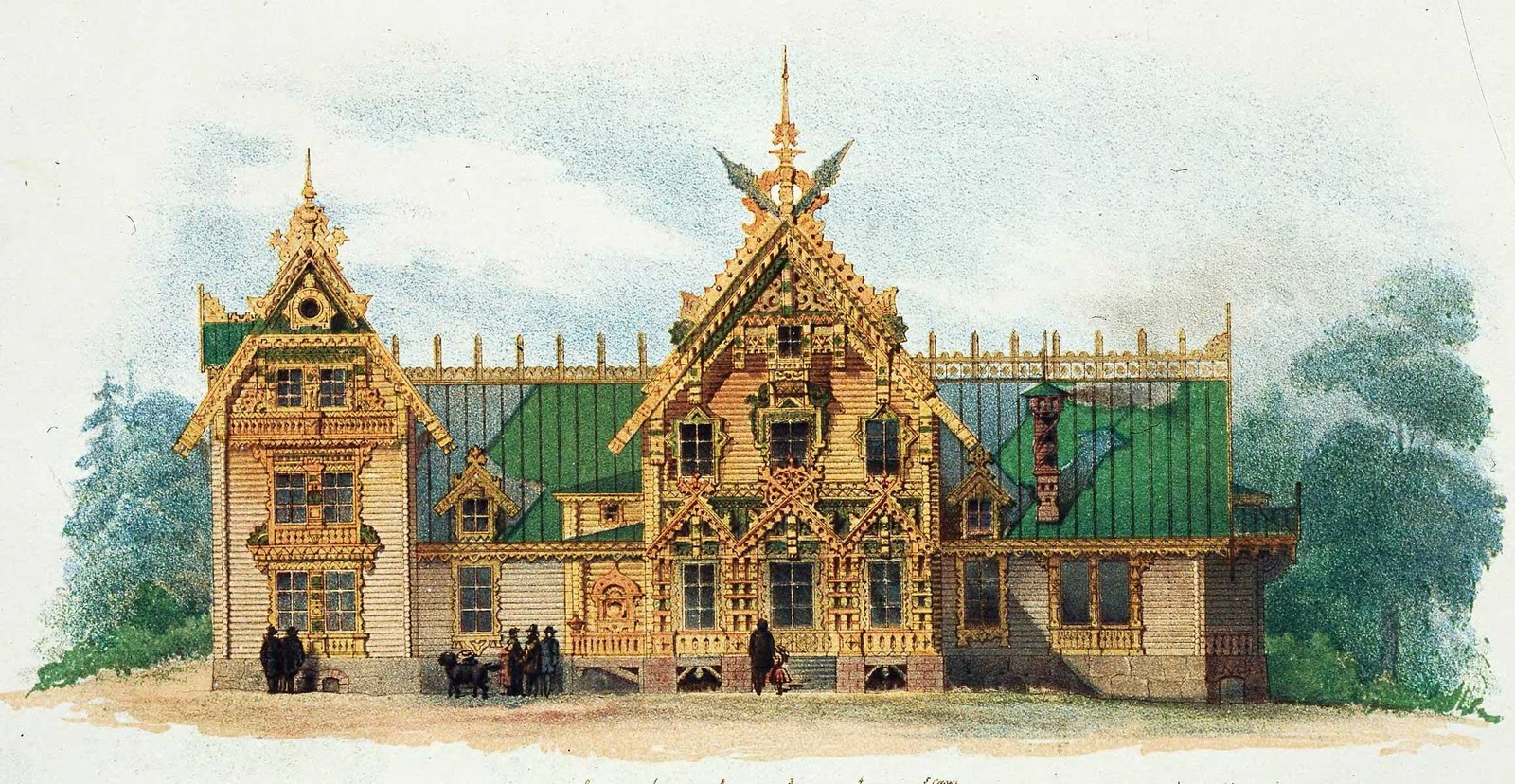 The Motives Of Russian Architecture In 1873 1880 Picture 19