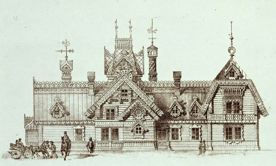 The motives of Russian architecture in 1873-1880, picture 20