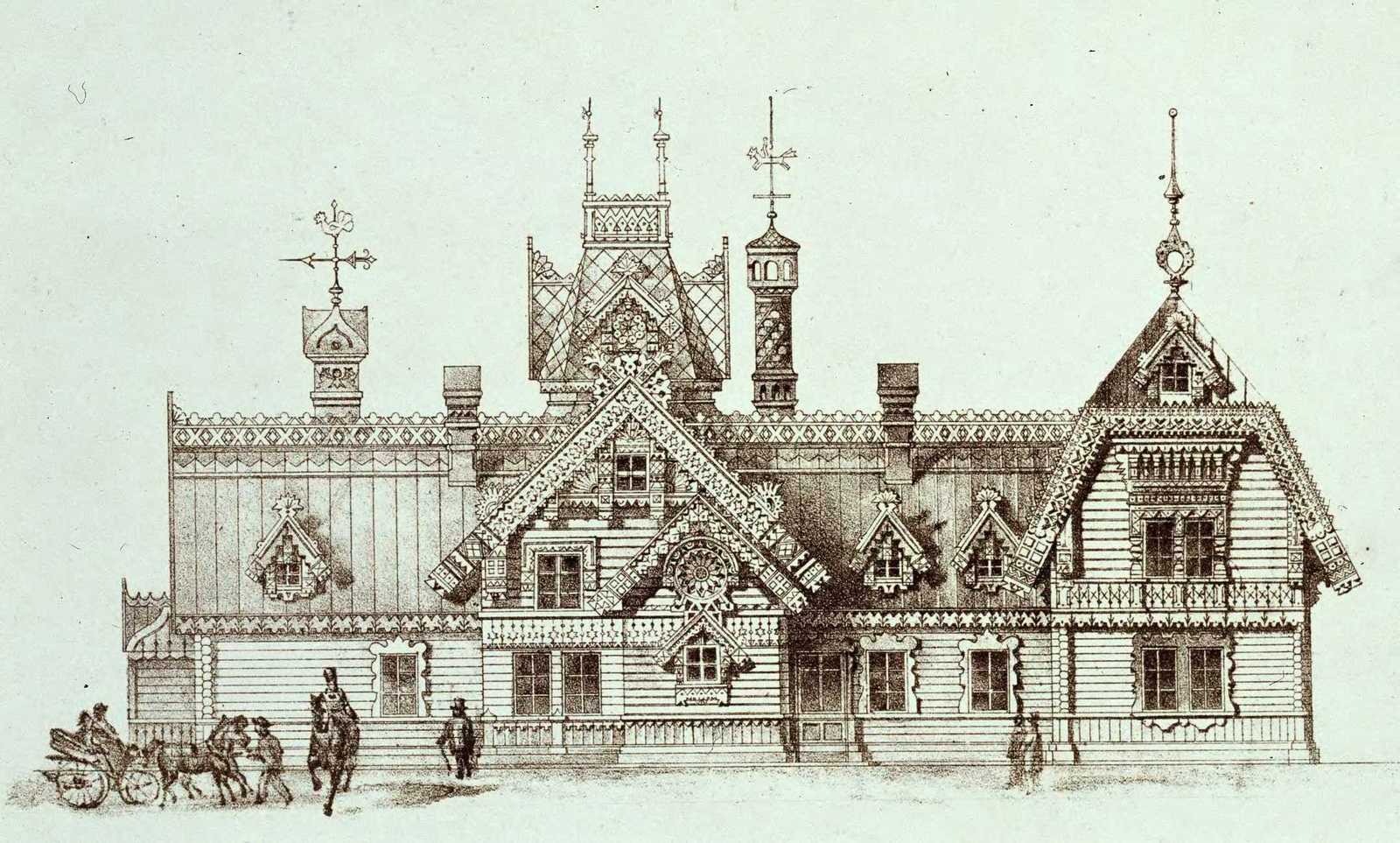 The Motives Of Russian Architecture In 1873 1880 183 Russia