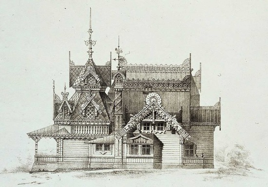 The motives of Russian architecture in 1873-1880, picture 21