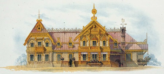 The motives of Russian architecture in 1873-1880, picture 23