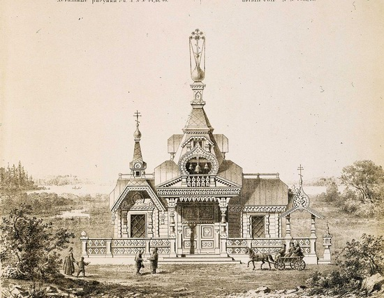 The motives of Russian architecture in 1873-1880, picture 28