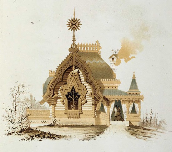 The motives of Russian architecture in 1873-1880, picture 3