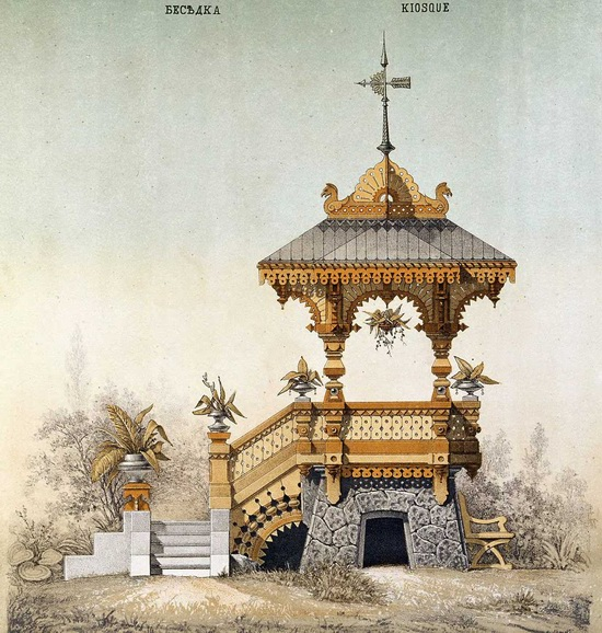 The motives of Russian architecture in 1873-1880, picture 4