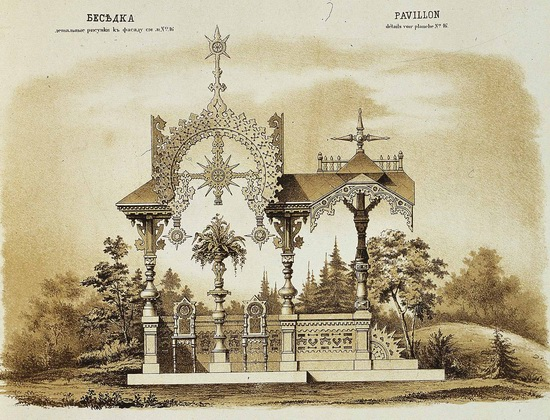 The motives of Russian architecture in 1873-1880, picture 5